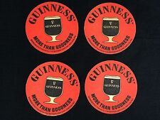 4 Guinness Stout Beer Coasters Vintage Bar Pub Man Cave