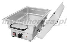 Edelstahl Chafing Dish Speisenwärmer Warmhaltebehälter GN 1/1 900W Brennpaste 8l