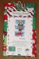 """Holiday Home Crafts Patchwork Super Size Christmas Stocking Quick Easy 10"""" x 24"""""""