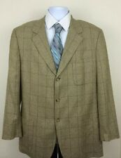 Ermenegildo Zegna Soft Silk/Wool Blend Sports Coat 44L Tan