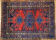Voluptuous Viss - 1960s Vintage Persian Rug - Tribal Carpet - 5.4 x 7.2 ft.