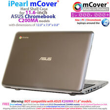 "NEW iPearl mCover® Hard Shell Case for 11.6"" ASUS Chromebook C200MA model"