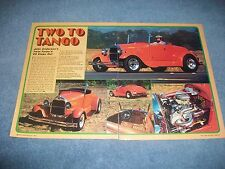 """1929 Ford Model A Roadster Vintage Street Rod Article """"Two To Tango"""" Twin Turbo"""