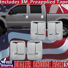 1999-2016 FORD F250-F550 SUPERDUTY Chrome Door Handle COVERS Trims 4DR W/OUT PSK