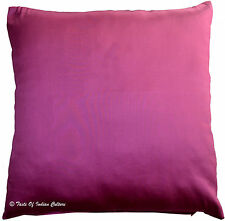 """20"""" Cushion Pillow Cover Pink Solid Soft Silk Sofa Toss Throw Home Decorative"""