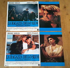 LA RAGAZZA DELLO SLUM set 2 fotobuste poster Backstreet Dreams Brooke Shields