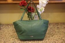 PARK LEATHER CARRIE TOTE (COACH F23284) SILVER/IVY bag tote (pu190