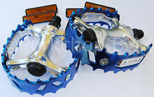 "Old school BMX XC-II VP-747 bear trap pedals 9/16"" (3 PIECE CRANK) COBALT BLUE"