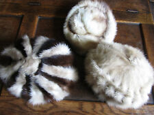 3 vintage real fur mink and ermine hats mitzi lorenz etc..mint condition for age