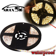 5M Warm White Flexible Strip Light Lamp 300 LED Car Waterproof 3528 SMD 12V US