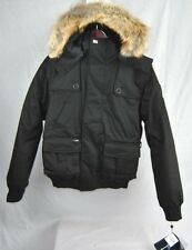 NEW NOBIS CARTEL CROSSHATCH BLACK MENS LARGE L DOWN COYOTE JACKET BOMBER