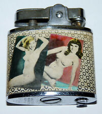 Vtg Sexy AMERICAN BEAUTIES Lady Woman Pin Up Girls Nude OMEGA Lighter