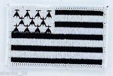 PATCH ECUSSON BRODE DRAPEAU BRETAGNE BRETON INSIGNE THERMOCOLLANT NEUF FLAG