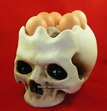 A Fantastic Human Skull Egg Stand / Holder for 6 Eggs | New In
