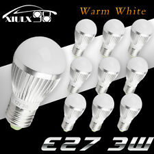 10X Warm White E27 LED Bulb Lamp 3W High Power 350LM Energy Saving Light DC 12V