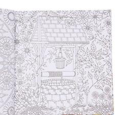 Prevalent English Version Of The Secret Garden Coloring Book For Adult Kids - SS