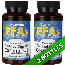 Swanson Premium Certified Organic Coconut Oil 2X60 Pills 1000MG
