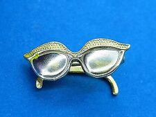 Vintage 14k gold 1950's 1960's MOVABLE CAT EYES EYE SUNGLASSES GLASSES charm