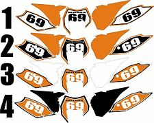 2014-2015 KTM EXC Number Plates Side Panels Graphics Decal