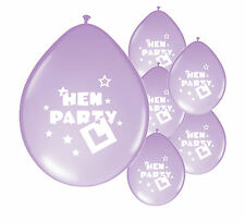 """24 x """"HEN PARTY"""" LILAC BALLOONS (PA)"""