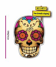 Day of the Dead Bone Ghost Day Dia de los Muertos EL Corazon Decal Sticker DOD47