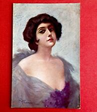 CPA. Roberto FRANZONI. 24-5. Femme. Robe Lilas. Décolleté. Charme. Glamour.