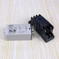 DC 24V H3Y-2 Power On Time Relay Delay Timer 0-60 Second DPDT & Base Socket NEW