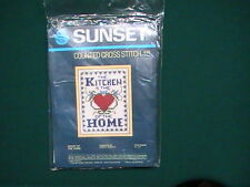 Vintage 1980 Sunset Designs Counted Cross Stitch Kit - Heart of the Home #939