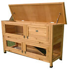 LARGE RABBIT HUTCH GUINEA PIG HUTCHES RUN RUNS 2 TIER DOUBLE DECKER CAGE
