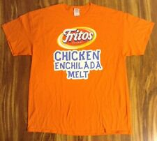 "SUBWAY FRITOS BRAND CHICKEN ENCHILADA  MELT MEN'S ORANGE T SHIRT SZ ""L"" NWOT NEW"
