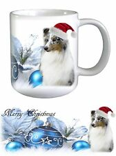 Sheltie Shetland Sheepdog Dog Christmas Ceramic Mug by Paws2Print
