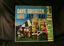 DAVE BRUBECK AND JAY & KAI - AT NEWPORT - COLUMBIA CL932 VINYL LP RECORD -GE