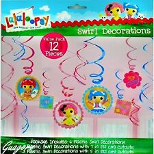 Lalaloopsy Dangling Swirl Decorations 12 Piece Birthday Party Supplies Favors