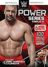 WWE POWER SERIES TRIPLE H 6 WORKOUTS  MENS EXERCISE DVD NEW SEALED
