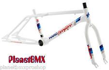 """2014 Haro BMX 20"""" Freestyler SPORT retro FRAME & FORK KIT Mike Dominguez WHITE"""
