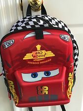 nwt new Disney Store Cars Mcqueen  3D Shape Backpack