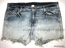 NEW Denim Cutoff Jean SHORTS Womens PLUS Size 18 2X Dip Dye Ombre Summer Fray