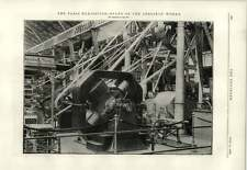 1889 Photograph Of Stand Of The Oerlikon Works Paris Exhibition