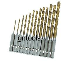 "13PC HSS METAL DRILL BIT SET 1/4"" HEX SHANK 1.5 to 6.5MM QUICK CHANGE"