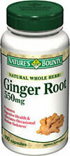100 Ginger Root 550mg Natural Whole Herb Nature's Bounty Supplement Health