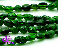 High Quality Genuine Green Chrome Diopside Nugget Free Form Loose Beads 5x6mm