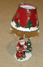 Christmas/Santa Clause Tea Light Candle Holder/Lamp/Stand-Red/White/Green-Decor