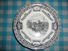 Assiette Gien - Garibaldi - Campagne d'Italie n°1 - Passage du Mont Cenis