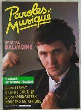 Revue Paroles et Musique Janvier 1987 Daniel Balavoine Charlélie Couture