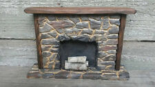Dollhouse Fireplace, Miniature Hand Carved Stone Fireplace ~ Artist Made ~ 1:12