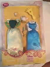 "Disney store 12"" Belle Classic  Doll Collection Accessories green and blue dress"
