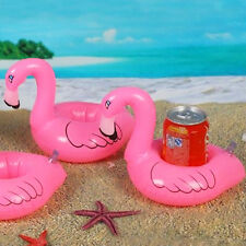 Mini Cute Red Flamingo Floating Inflatable Drink Can Holder Pool Bath Toy Party