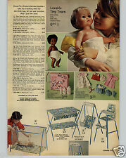 1972 PAPER AD American Character Tiny Tears Doll Dolls White Black