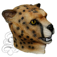 Latex Animal Gatto Selvatico Ghepardo Leopardo Travestimento Arredo Scenico