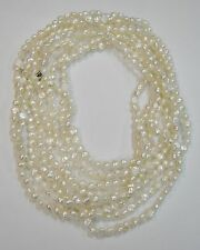 FRESH WATER OPERA LENGTH PEARL NECKLACE 53'' DOUBLED N530-E